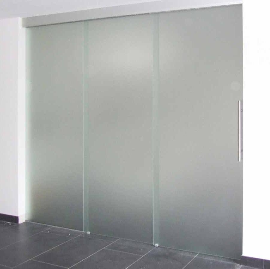 Glasschiebetür geschlossen